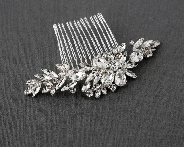 crystal wedding hair combs | crystal decorative combs