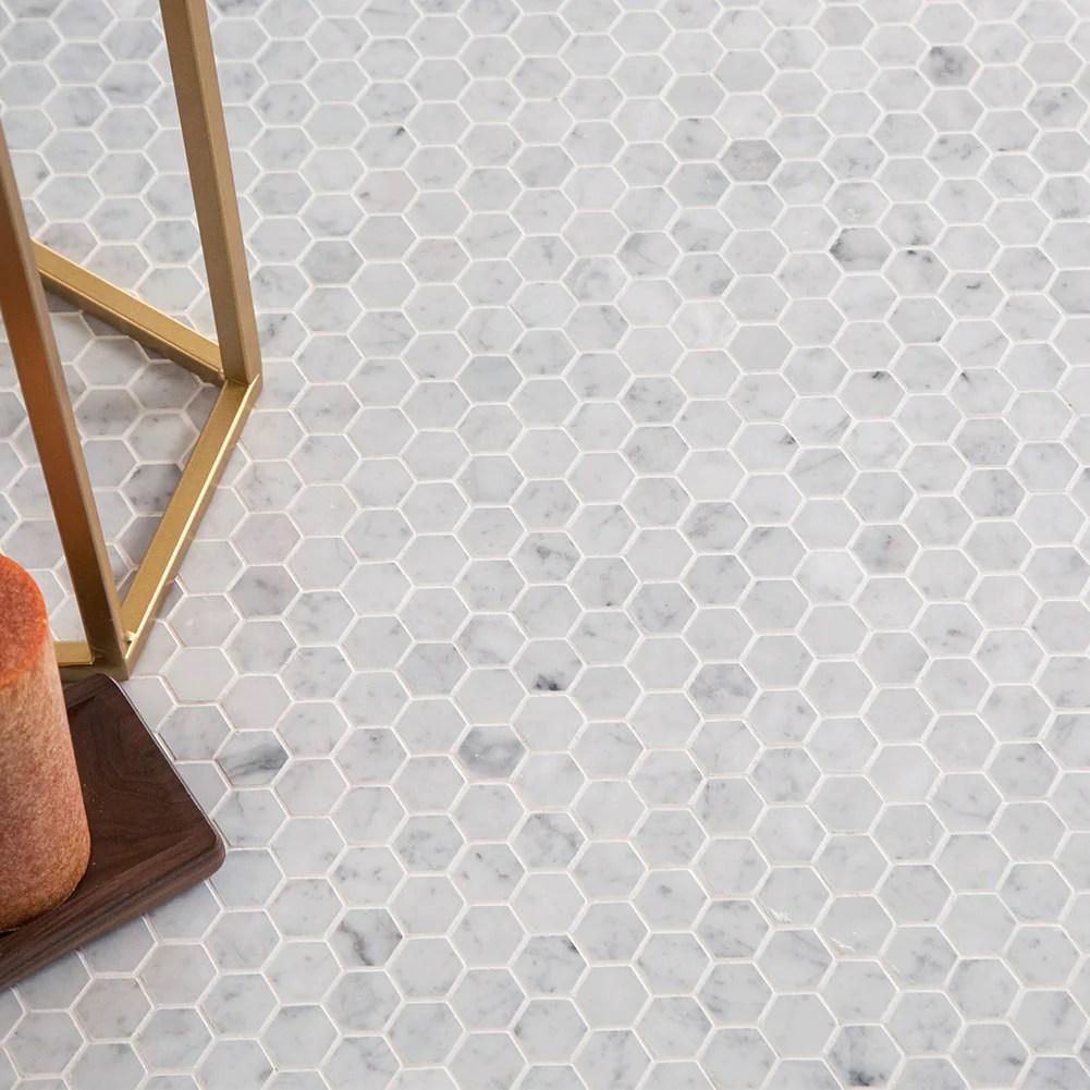 https diflart com products hexagon carrara marble tile 1 1
