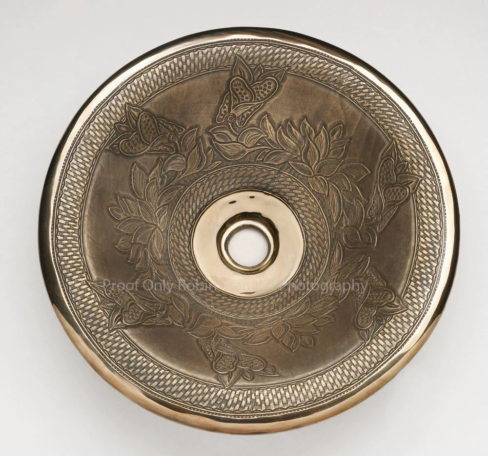 1851 bronze vessel sink tombstone