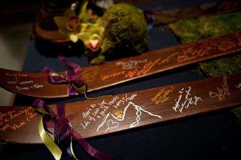 Vintage ski themed wedding ideas.