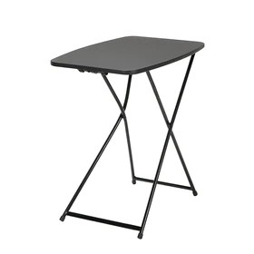 cosco indoor outdoor adjustable height personal folding table black 2 pack