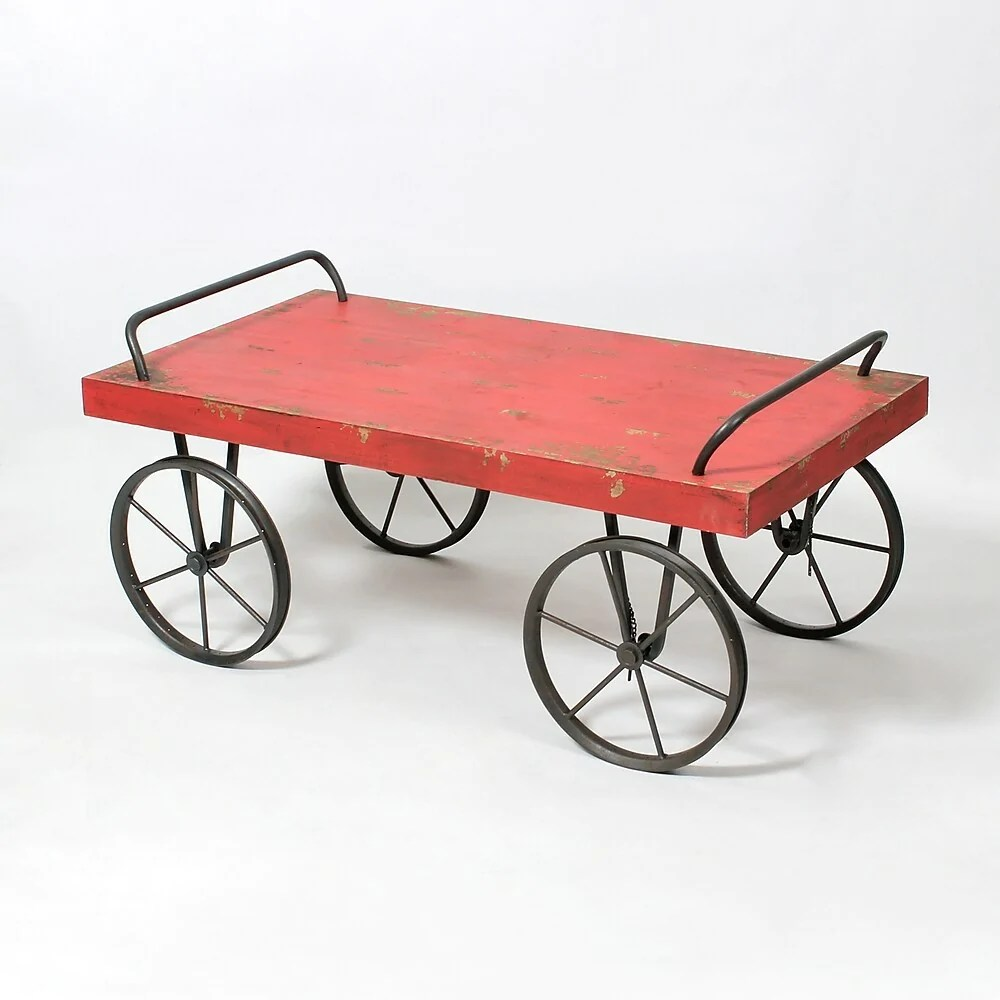 red wagon coffee table