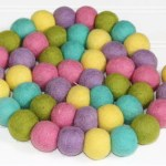 Felt Ball Garland Easter Pom Pom Garland Spring Easter Decor Therainbowbarn