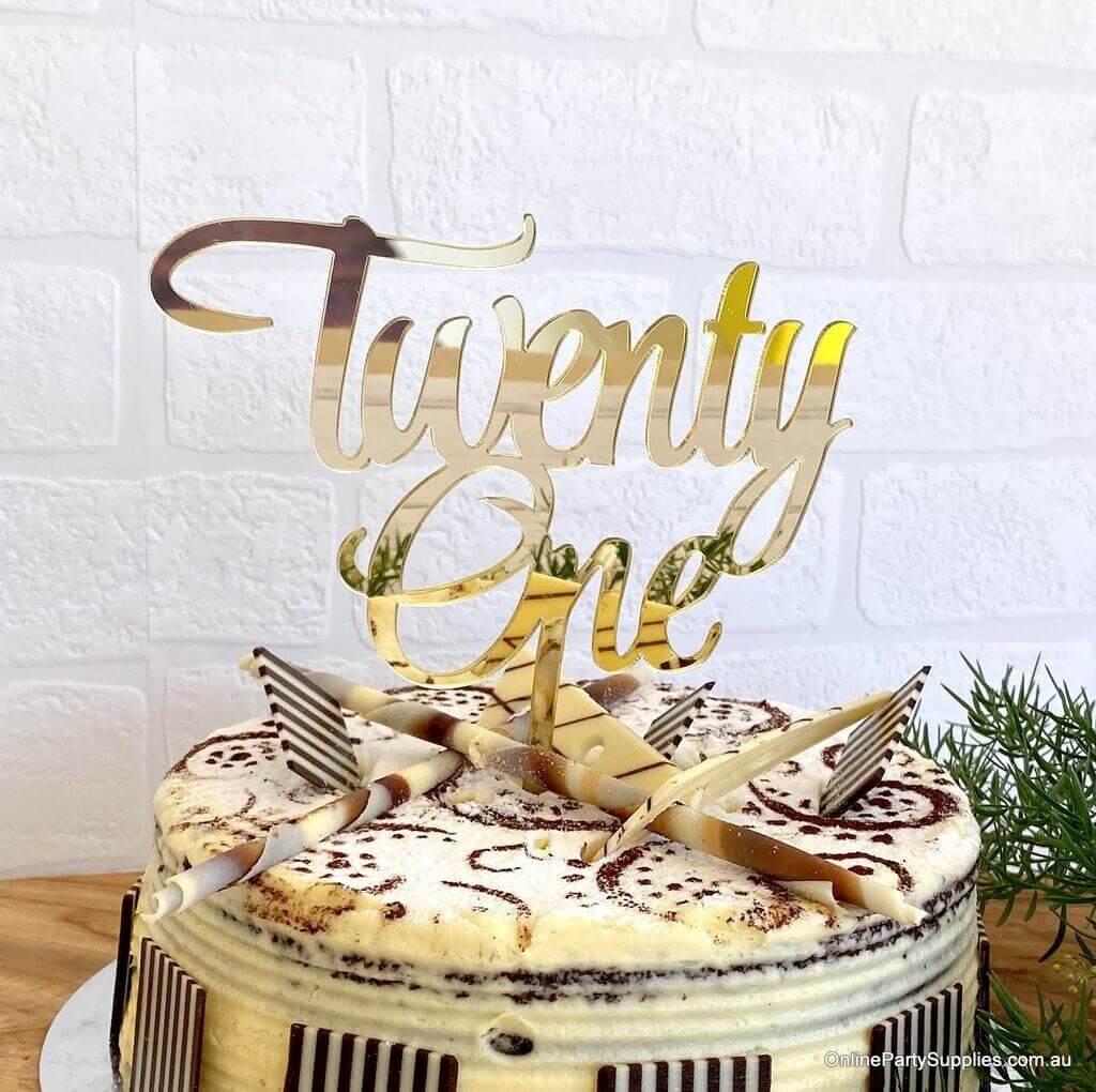 Various Colours Australian Seller 21st Birthday Cake Topper Twenty One Cake Toppers Patterer Home Garden