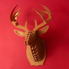 """Bucky"" Cardboard Trophy by Cardboard Safari"