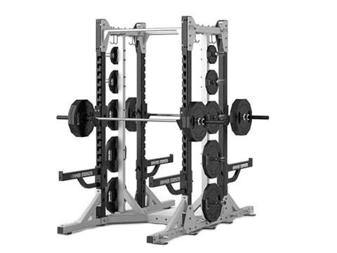 used hammer strength heavy duty elite double half rack