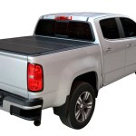 Lomax Hard Trifold Tonneau Cover Fits 2015 2019 Chevy Colorado Gmc Can Midwest Aftermarket
