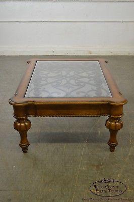 ethan allen devereaux tuscan style coffee table b