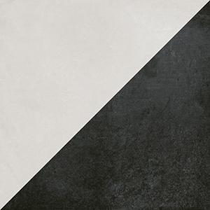 futura black porcelain half tile 6 x 6