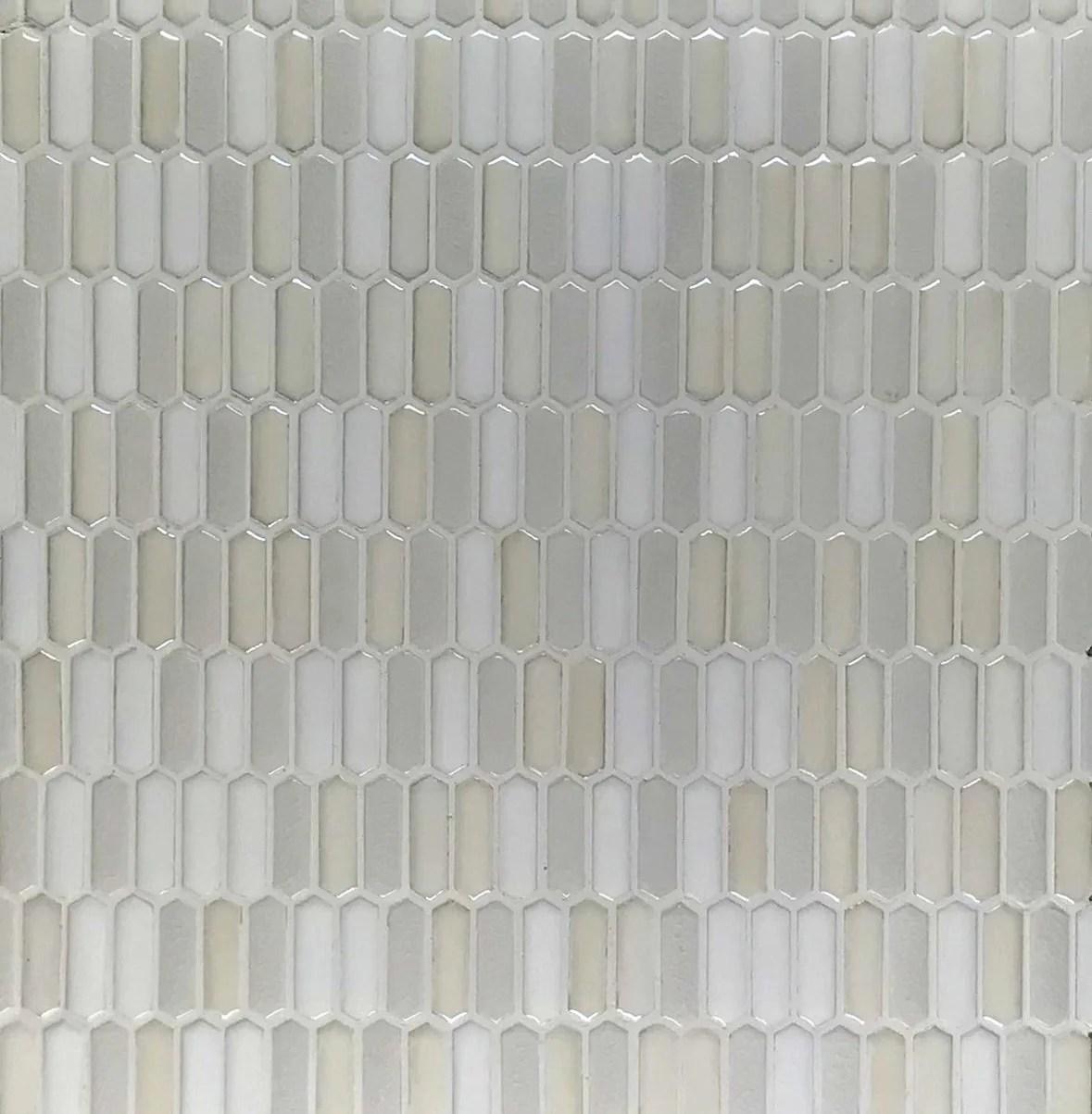 mini elongated hex cream 12 x 12