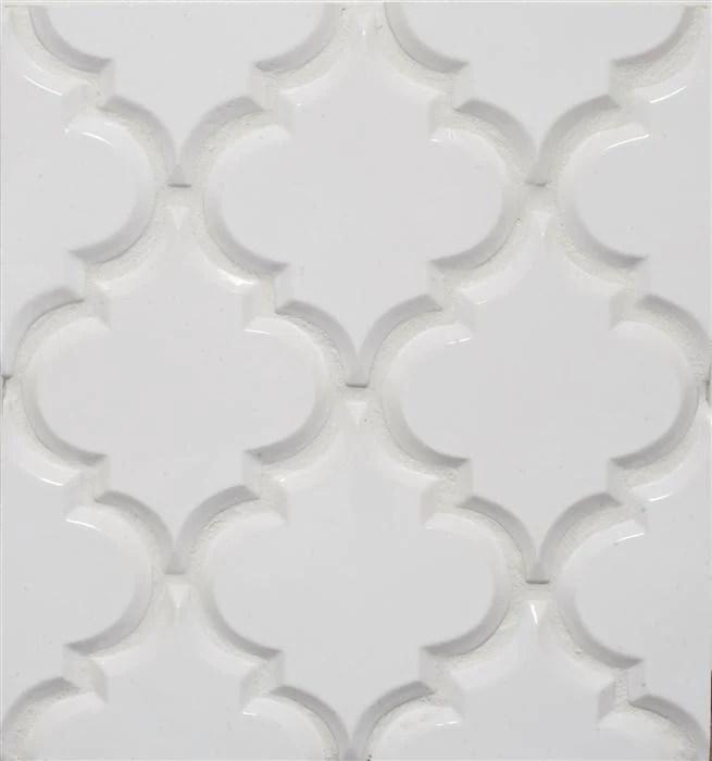 beveled arabesque glazed ceramic wall