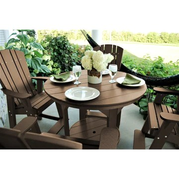 duraweather poly 5 pc plantation group counter height set 48 rd table
