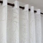 Branch Tree White Sheer Curtains For Bedroom Living Room 2 Panels Anady Top