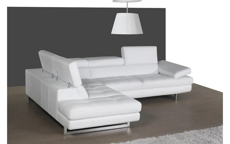 giovanna white leather sectional sofa