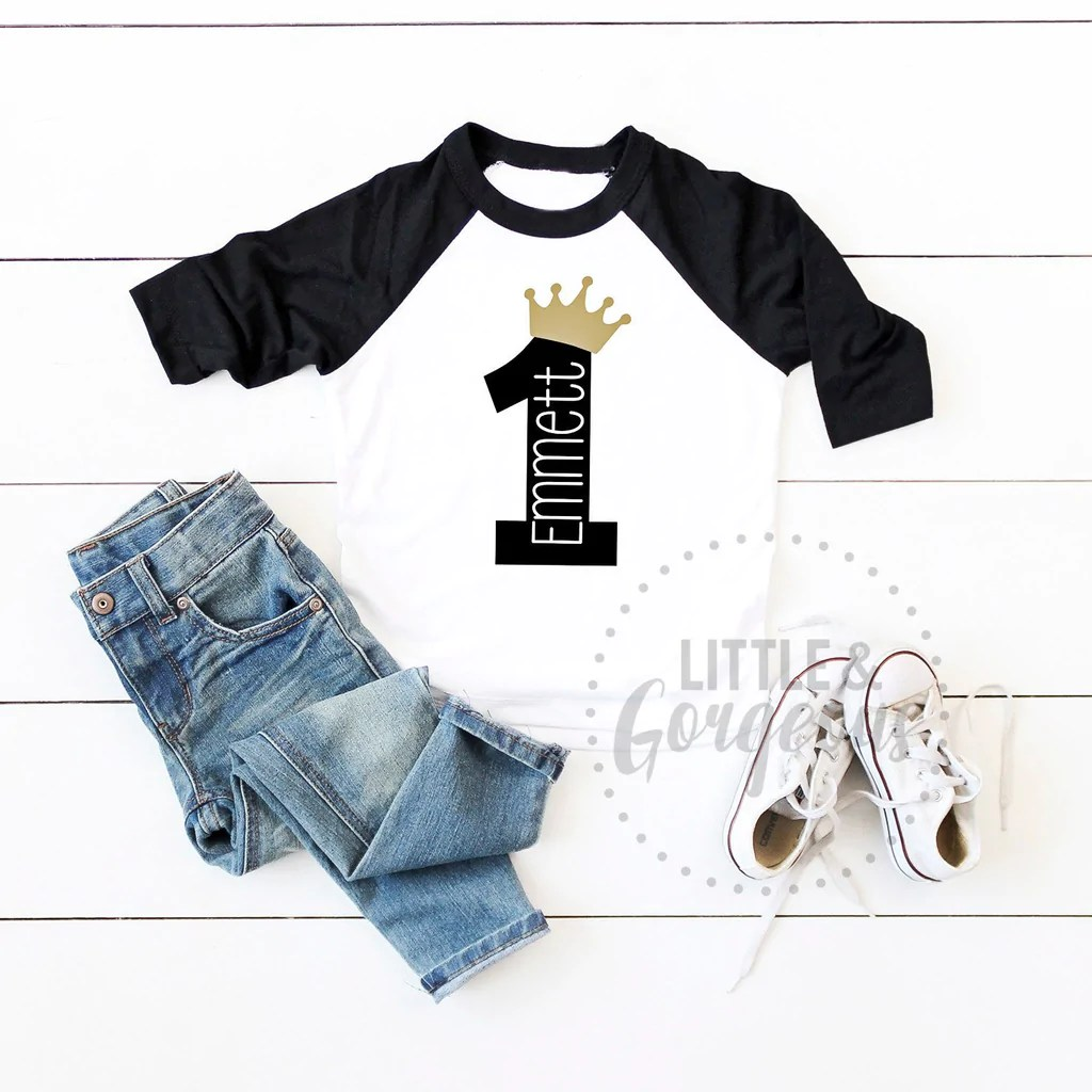 Prince Boys First Birthday Outfit Personalized Wild Things Little And Gorgeous