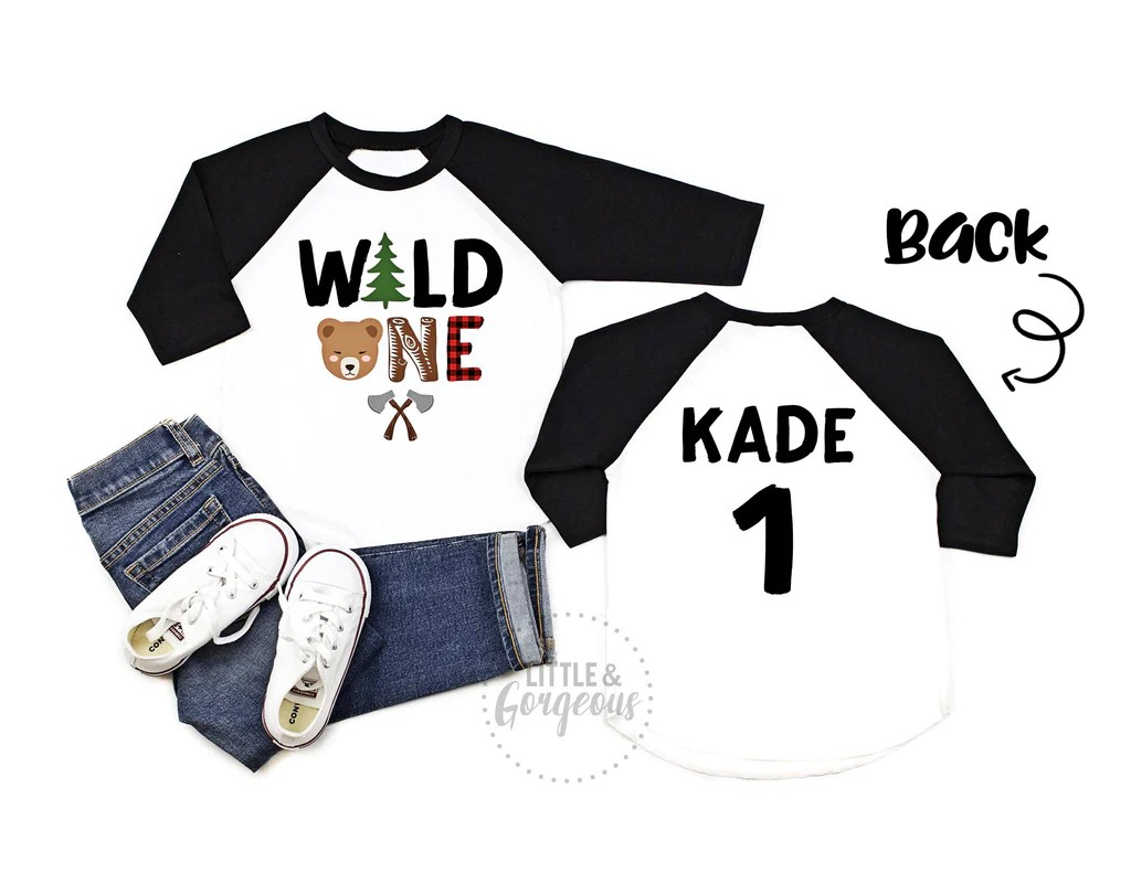 Wild One Woodland First Birthday Shirt Little And Gorgeous