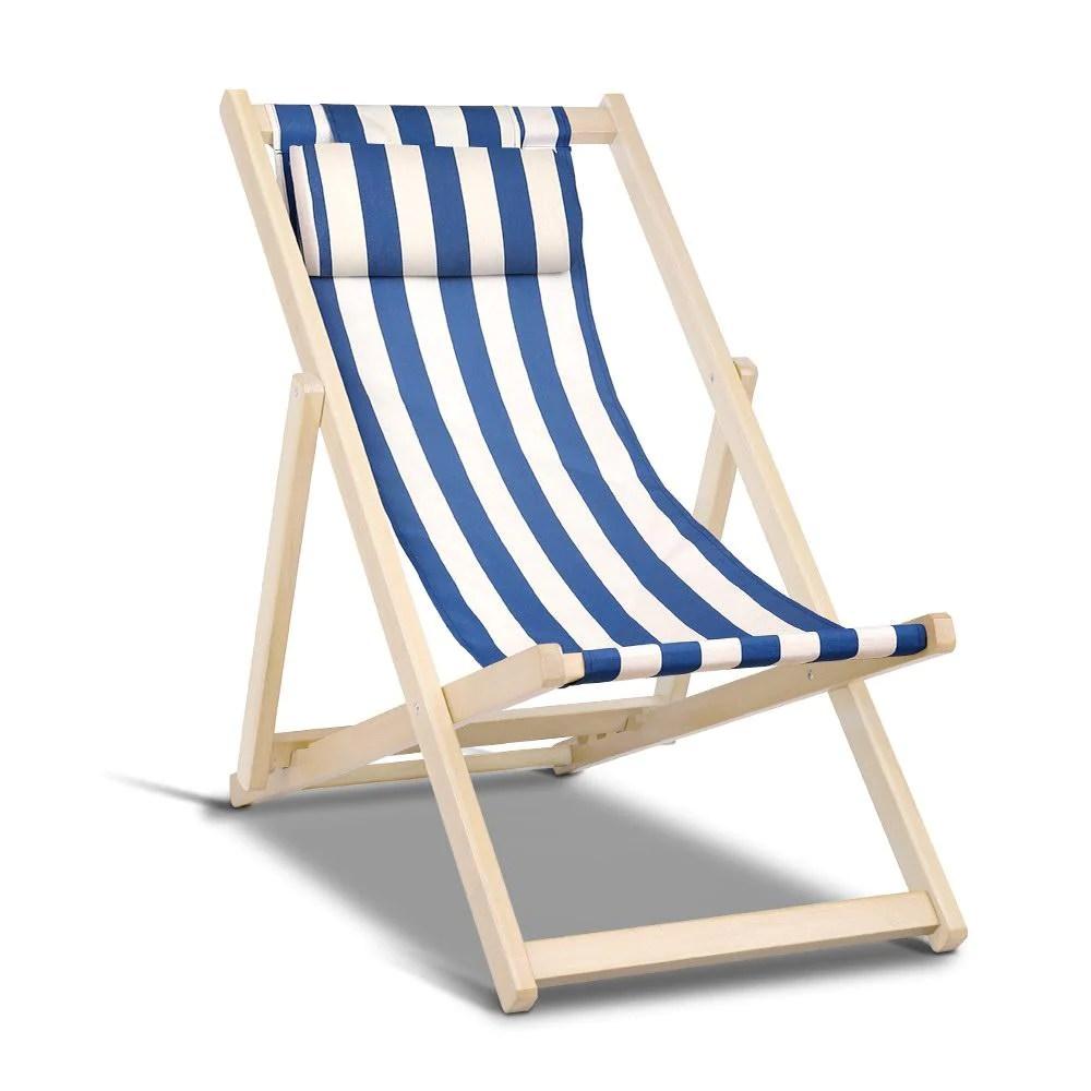 gardeon outdoor furniture sun lounge beach chairs deck chair folding wooden patio