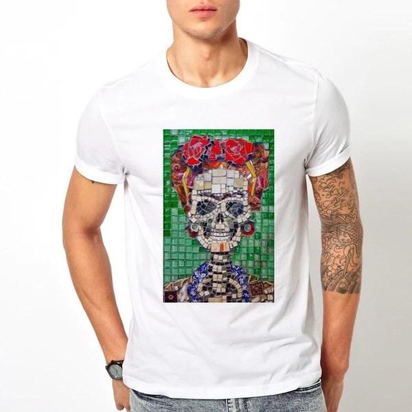 Frida Kahlo ceramic tile pattern