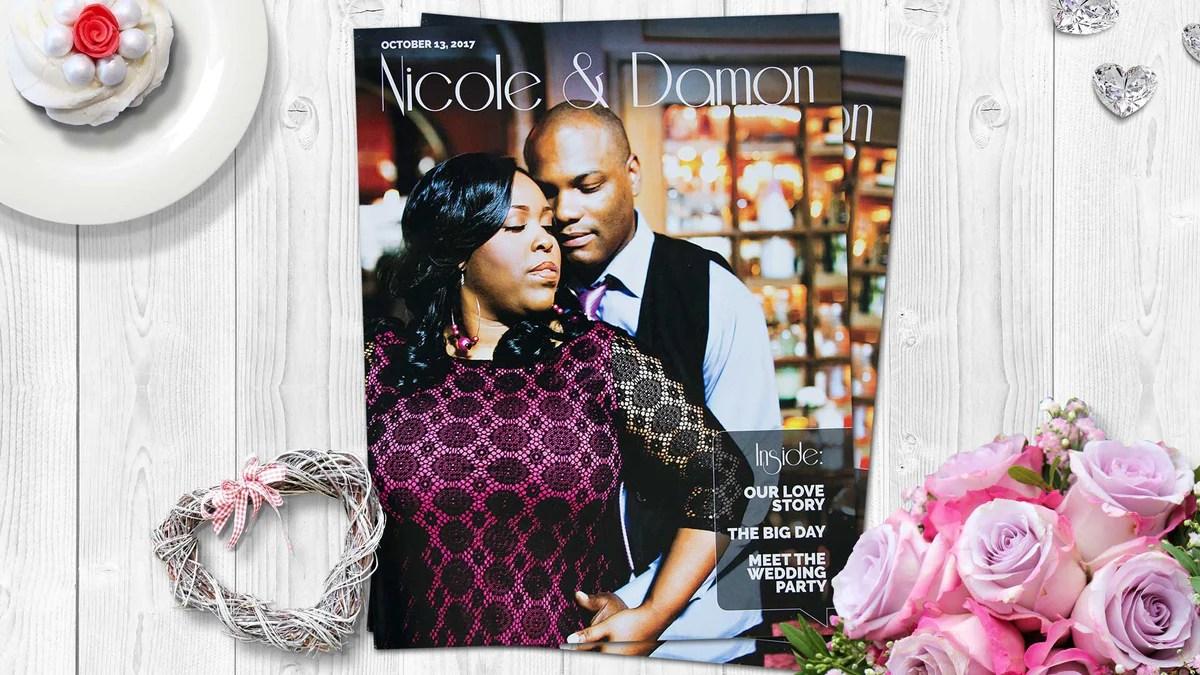 Unique Magazine Wedding Programs Album Factory The Album Factory
