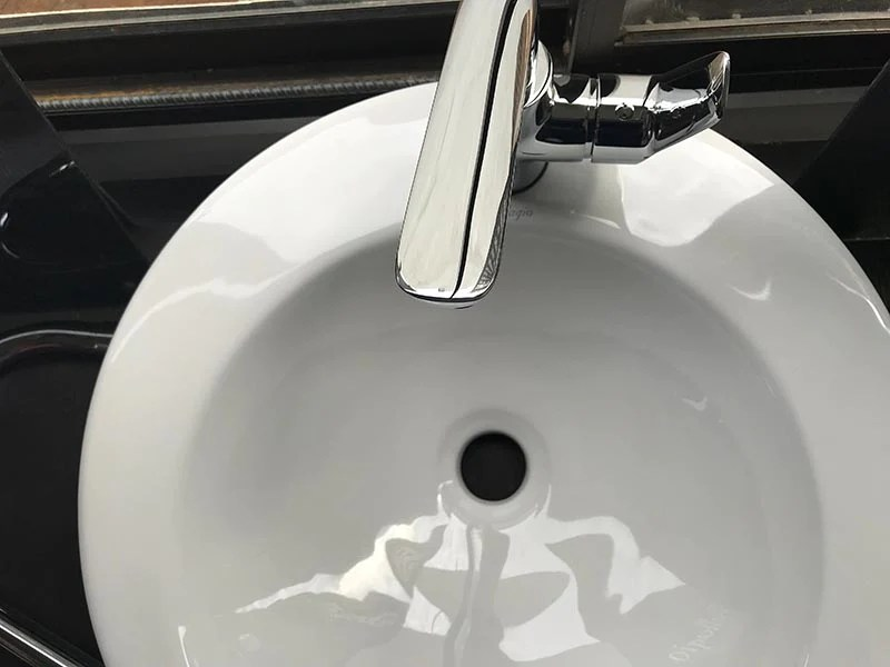 to shave in the sink without clogging