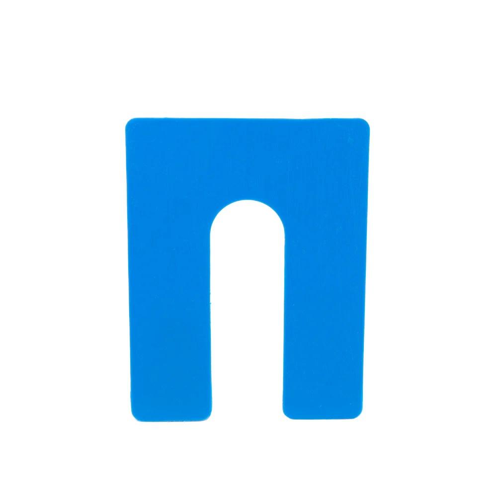 1 16 x 3 x 4 plastic shims structural horseshoe u shaped tile spacers blue qty 100 1000