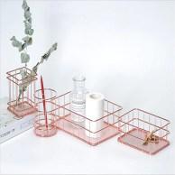 Image result for rose gold wire organizer desk