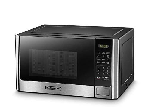 black decker em925ab9 digital microwave oven with turntable 0 9 cu ft