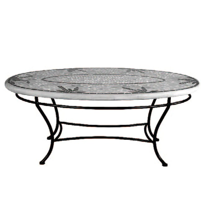 mosaic oval chat tables