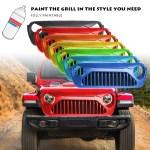 New Style For Jeep Wrangler Jl 2018 2019 Matte Black Front Bumper Grille Mesh I