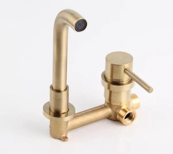 modern brass wall mounted faucet