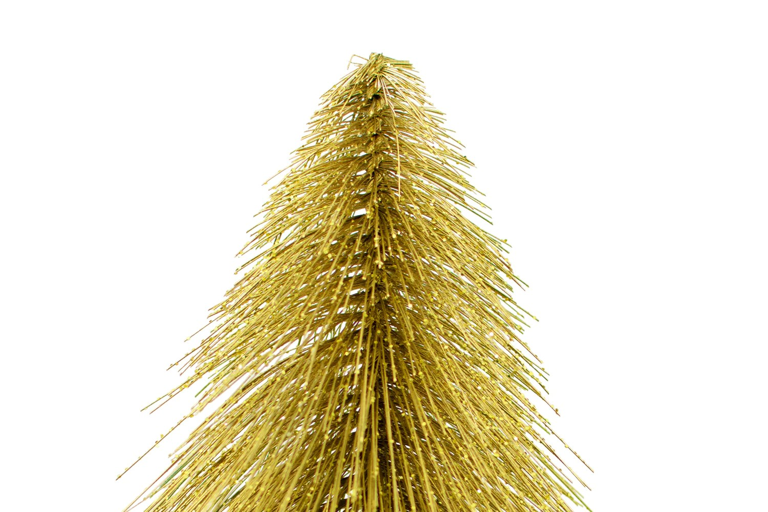 Mini Gold Tabletop Christmas Trees Sparkling Glitter Sold Lee Display