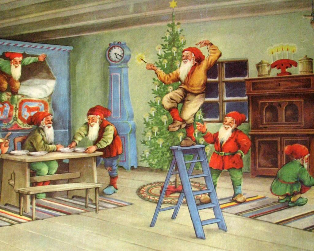 1940s Original Vintage Erik Forsman Christmas Elves
