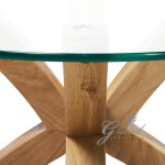 New Phoenix Solid Oak Glass Coffee Table Modern Clear Living Room Furniture Coffee Tables