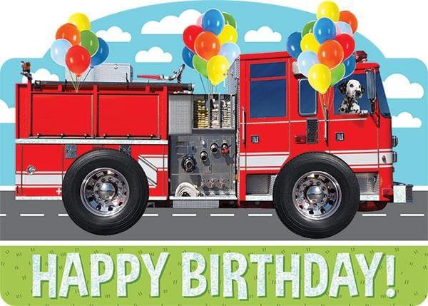 Fire Truck Foil Card Paper House Productions