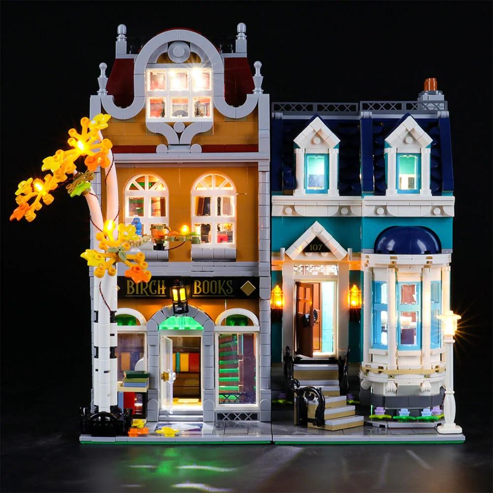 briksmax light kit for lego bookshop 10270