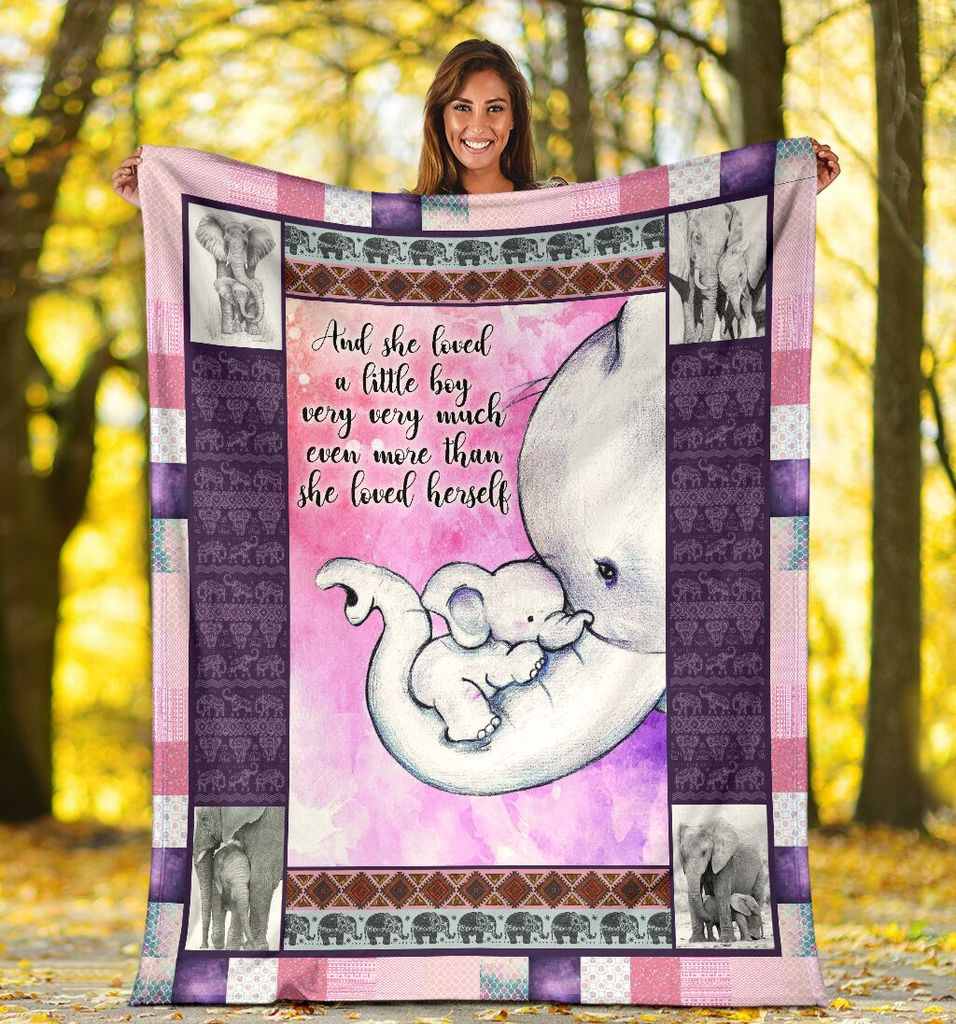 Download Elephant Blanket And She Loved A Little Boy Very Much Even ...