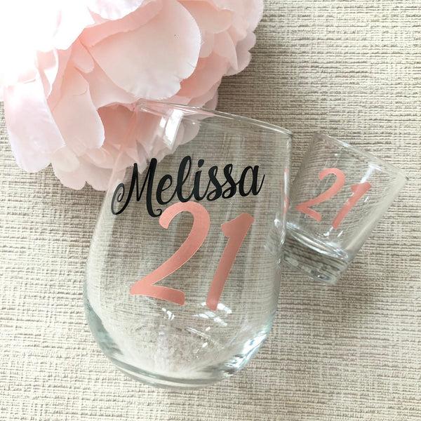 21st Birthday Wine Glass Finally Legal Finally 21 Milestone Birthday Legal Af Jessica James Designs