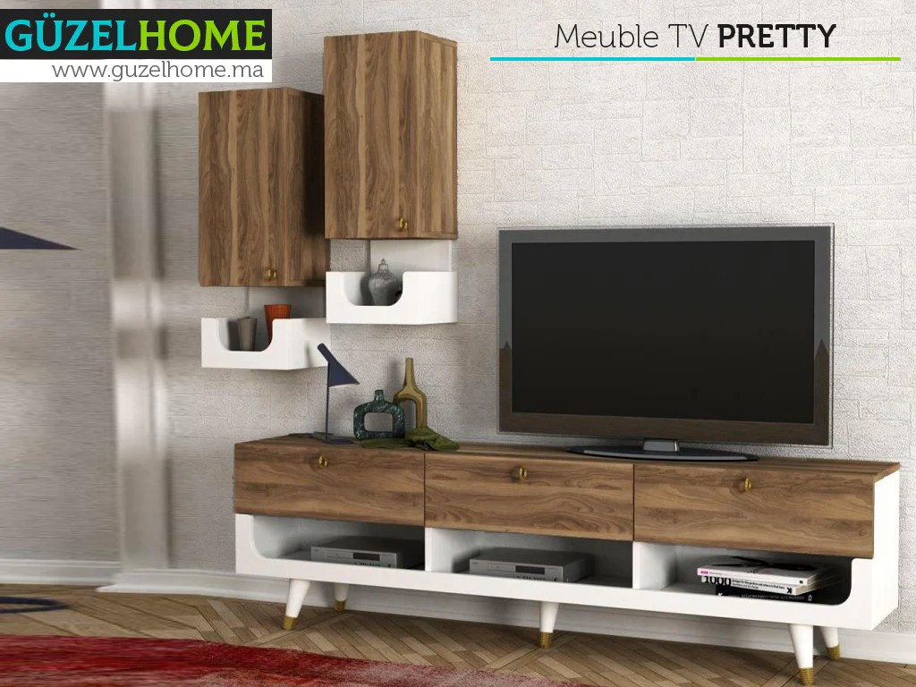 pack exclusif pretty meuble tv table basse