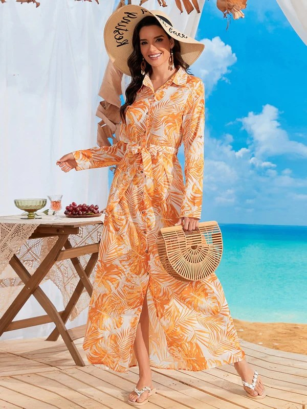 beach nutptial guest dress outfit idea for midlife women