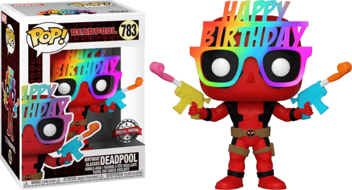 Funko Pop Deadpool Birthday Glasses Deadpool 30th Anniversary 783 The Amazing Collectables