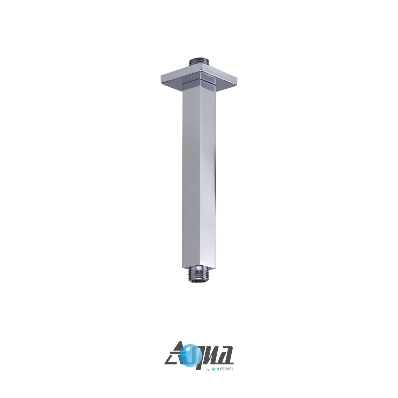 Aqua Piazza Brass Shower Set With 8 Ceiling Mount Square Rain Shower Handheld And Tub Filler