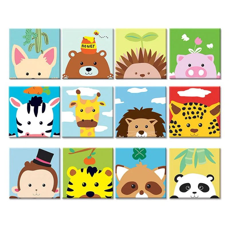 Diy Animal Art Painting Kit Paint By Numbers Kids Craft Activity Art By The Bay