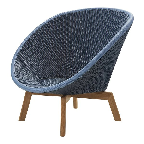 Cane line Peacock Lounge Chair by Foersom   Hiort Lorenzen   Danish     Peacock Lounge Chair