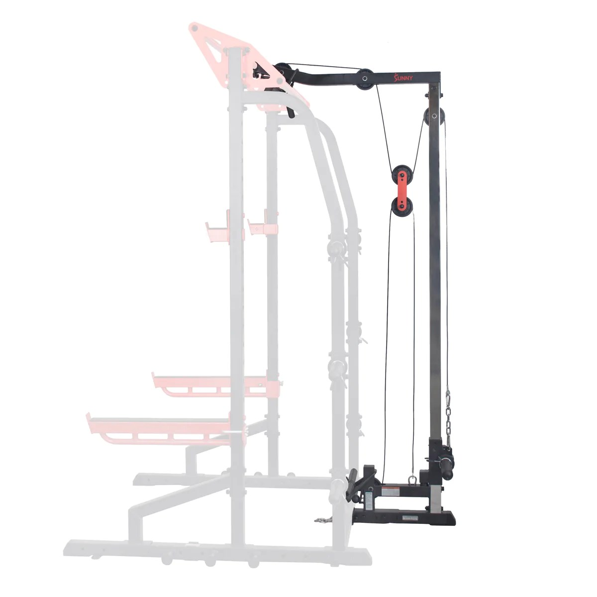 lat pull down attachment pulley system for power racks
