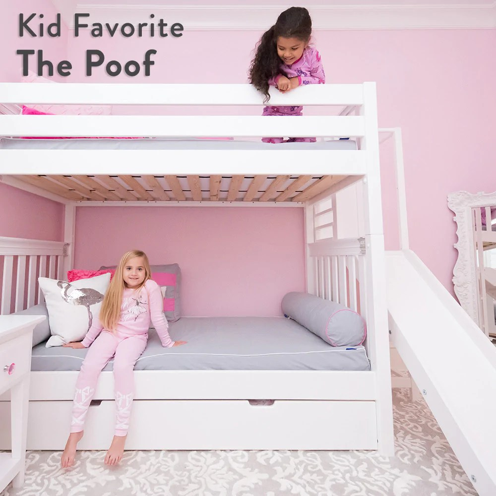 Add A Slide To Your High Bunk Bed With The Poof Maxtrix Kids