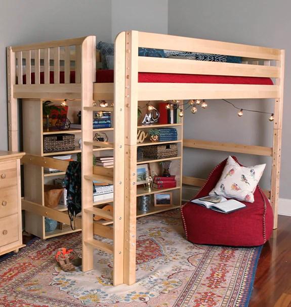 top kids study loft bed with desk