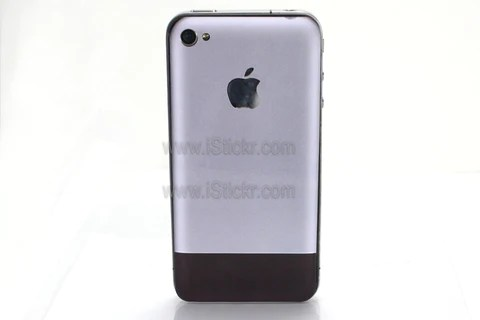 Aluminum First Gen iPhone 4 Decal
