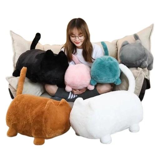 fluffy cat shaped plush toy cat stuffed animal