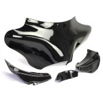 Motorcycle Fiberglass Vivid Black Front Outer Batwing Fairing For Harley Softail Heirtage Fat Boy Road King Flhr Black Zjmoto