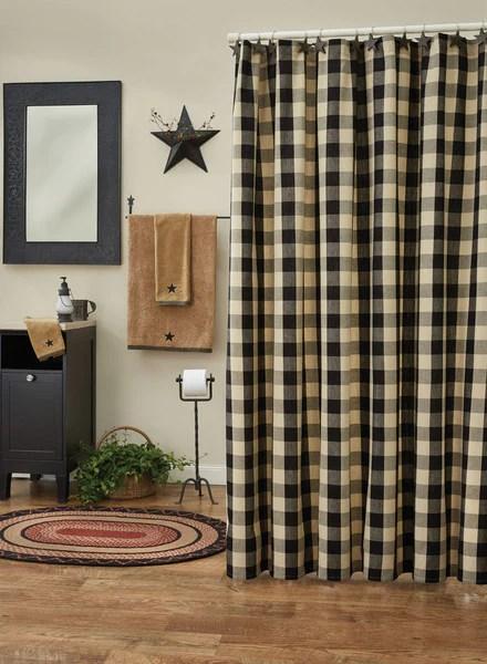 rideaux de douche carreaute wicklow noir et beige